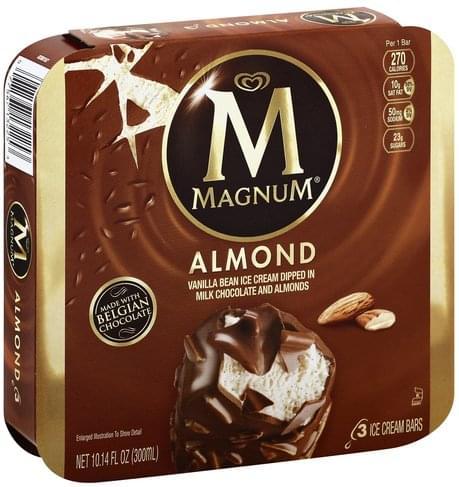 Magnum Almond Ice Cream Bars - 3 ea