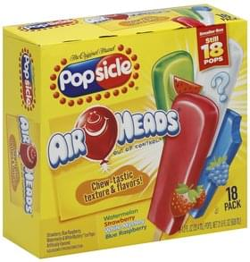 Popsicle Ice Pops Air Heads