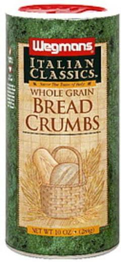 Wegmans Bread Crumbs Whole Grain