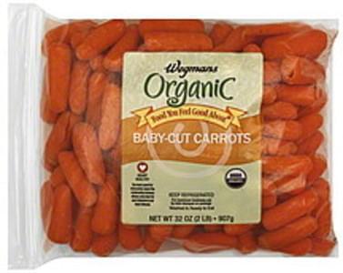 Wegmans Carrots Organic, Baby-Cut