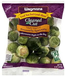 Wegmans Brussels Sprouts Cleaned and Cut