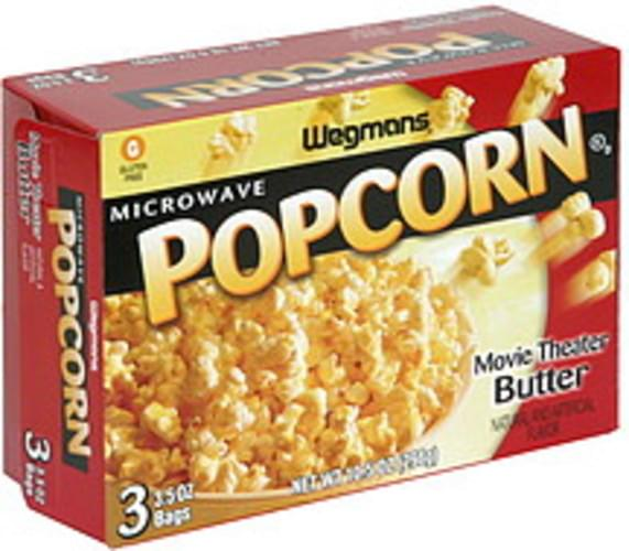 Wegmans Movie Theater Butter Microwave Popcorn 3 Ea Nutrition Information Innit
