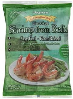 Wegmans Shrimp from Belize Uncooked