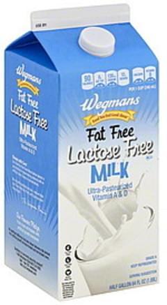 Wegmans Milk Lactose Free, Fat Free