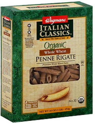 Wegmans Organic, Whole Wheat, No. 32 Penne Rigate - 16 oz