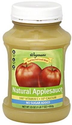 Wegmans Applesauce Natural