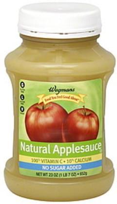 Wegmans Applesauce Natural