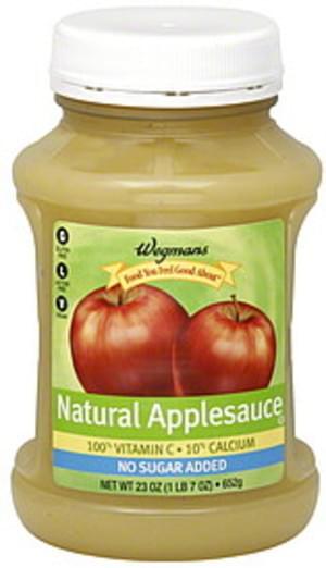 Wegmans Natural Applesauce - 23 oz