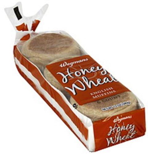 Wegmans Honey Wheat English Muffins - 6 ea
