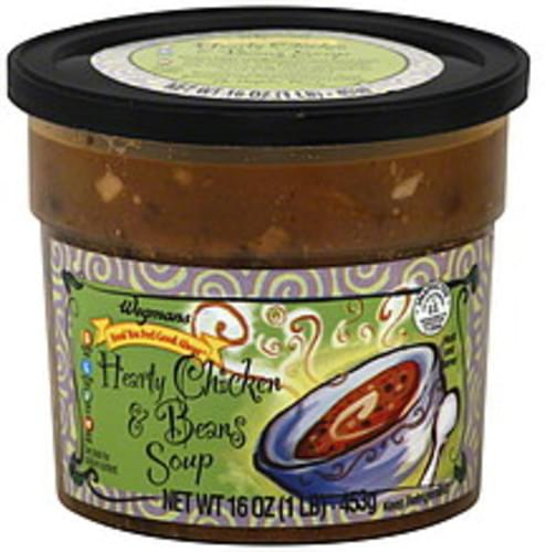 Wegmans Hearty Chicken & Beans Soup - 16 oz