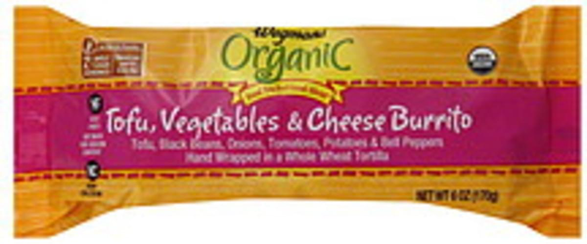 Wegmans Organic, Tofu, Vegetables & Cheese Burrito - 6 oz