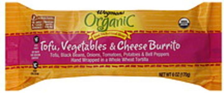 Wegmans Burrito Organic, Tofu, Vegetables & Cheese