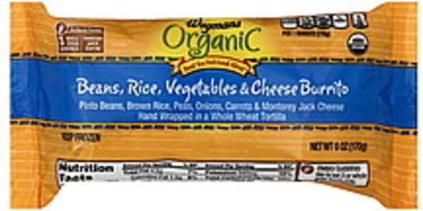 Wegmans Burrito Beans, Rice, Vegetables & Cheese