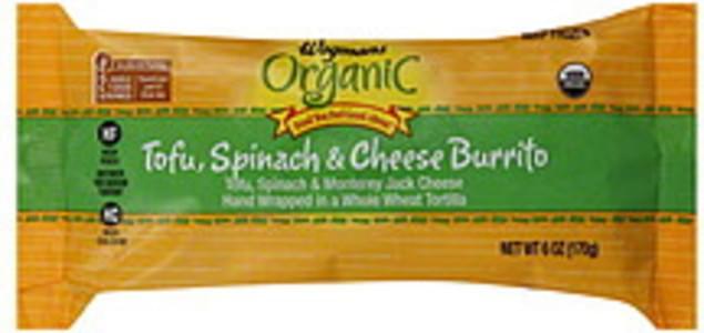 Wegmans Burrito Organic, Tofu, Spinach & Cheese