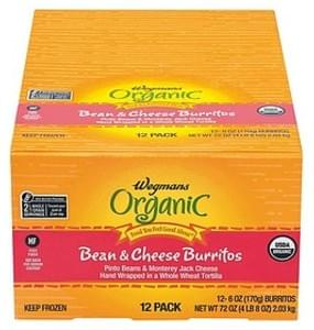 Wegmans Mexican Food Beans & Cheese Burritos