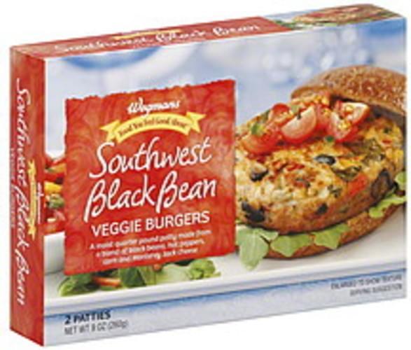 Wegmans Southwest Black Bean Veggie Burgers - 2 ea