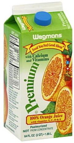 Wegmans 100% Orange Juice Premium