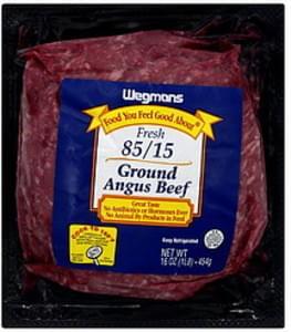 Wegmans Angus Beef Ground, 85/15
