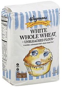 Wegmans Flour Unbleached, White Whole Wheat