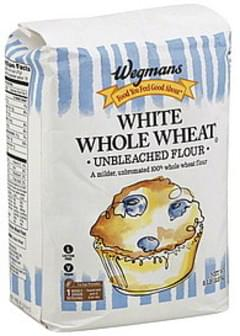 Wegmans Flour Unbleached, White Whole Wheat