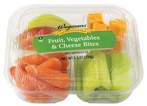 Wegmans Food You Feel Good About Fruit, Vegetables & Cheese Bites Fruit, Vegetables & Cheese Bites