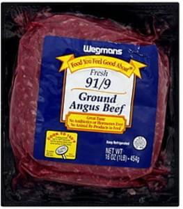 Wegmans Angus Beef Ground, Fresh 91/9