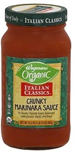 Wegmans Marinara Sauce Chunky