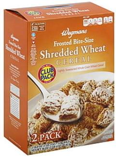 Wegmans Cereal Shredded Wheat, Frosted Bite-Size, Club Pack