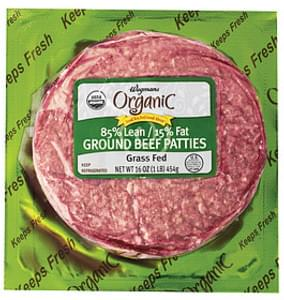 Wegmans Beef 85% Lean / 15% Fat Ground Beef Patties