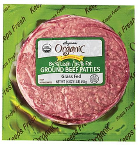 Wegmans 85% Lean / 15% Fat Ground Beef Patties Beef - 16 oz
