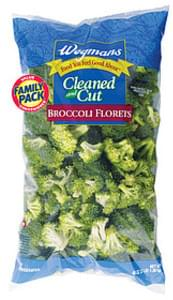 Wegmans Fresh Vegetables Cleaned and Cut Broccoli Florets, FAMILY PACK