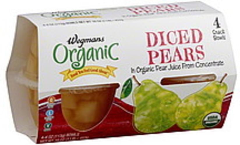 Wegmans Organic, Diced Pears - 4 ea