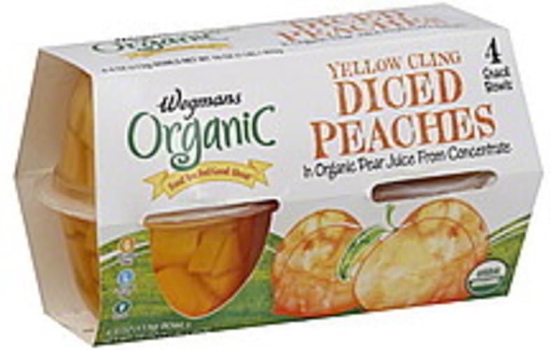 Wegmans Organic, Diced, Yellow Cling Peaches - 4 ea