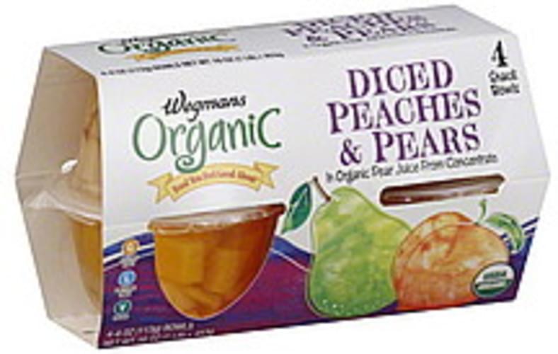 Wegmans Organic, Diced Peaches & Pears - 4 ea