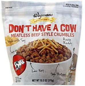 Wegmans Beef Style Crumbles Meatless, Don't Have A Cow