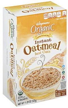 Wegmans Oatmeal Instant, Organic, Just Oats