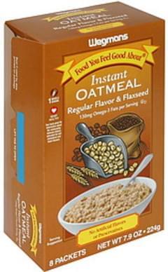 Wegmans Instant Oatmeal Regular Flavor & Flaxseed