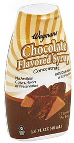 Wegmans Chocolate Flavored, Concentrate Syrup - 1.6 oz