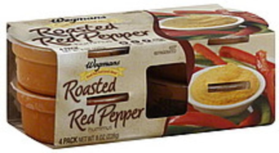 Wegmans Roasted Red Pepper Hummus - 4 ea