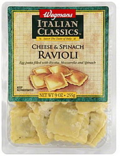 Wegmans Cheese & Spinach Ravioli - 9 oz