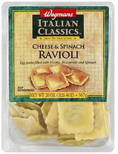 Wegmans Cheese & Spinach Ravioli - 20 oz