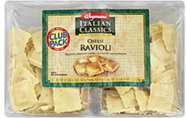 Wegmans Cheese, Club Pack Ravioli - 2 ea
