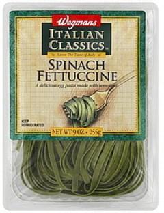 Wegmans Fettuccine Spinach