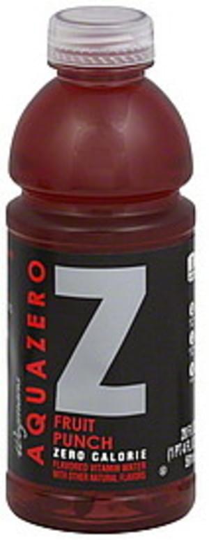 Wegmans Zero Calorie, Fruit Punch Vitamin Water - 20 oz