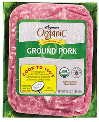 Wegmans Ground Pork Pork - 16 oz