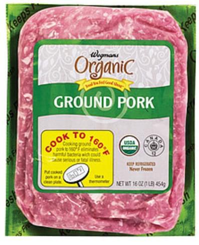 Wegmans Ground Pork Pork - 16 oz