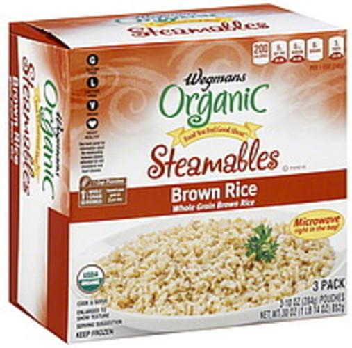 Wegmans Brown, Steamables, Organic Rice - 3 ea