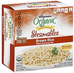 Wegmans Rice Brown, Steamables, Organic