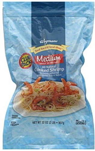 Wegmans Cooked, Medium, Club Pack Shrimp - 32 oz
