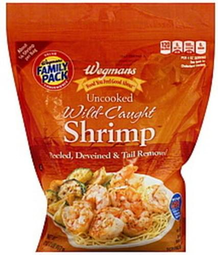 Wegmans Wild-Caught, Uncooked, FAMILY PACK Shrimp - 32 oz